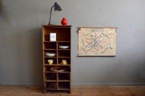 Meuble d'atelier rustique wabi sabi étagère vaisselle bohème primitif antic wooden shelves french deco farm furniture craft deco