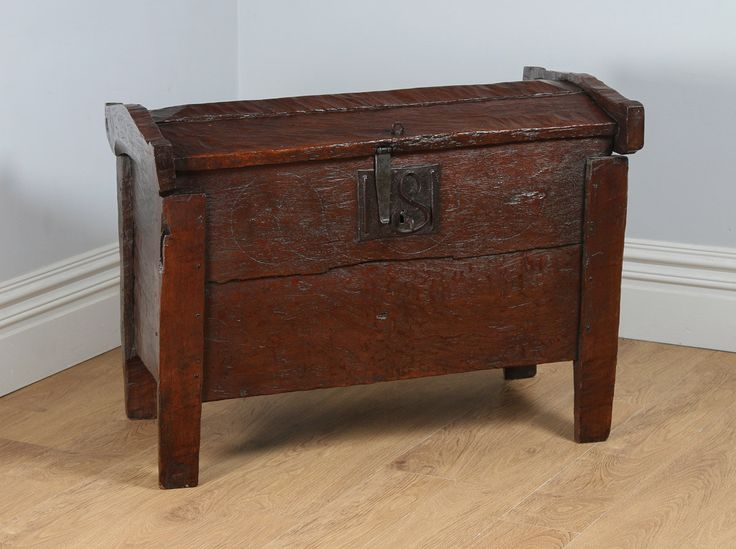 Antique English Oak Meal Ark Coffer Clamp Chest (Circa 16th Century) by…