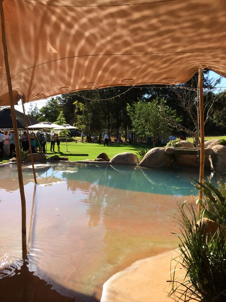 #Knorhoek farm in Stellenbosch has an easy sloped pool!
