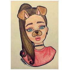 cute girl drawing by twa | WHI