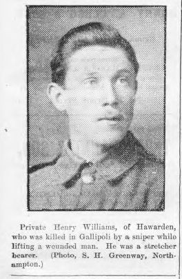 William, Henry, Pte 1484 KIA 19.08.15 by sniper