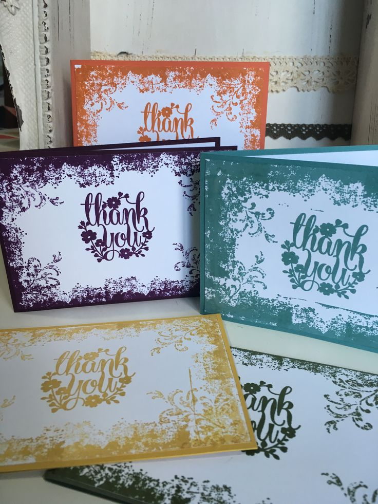 wedding thank you cards time limit%0A In Colour Thank You Cards using the Timeless Textures and Whole Lot of  Lovely stamp sets