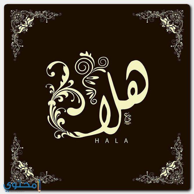 معنى اسم هلا وصفاتها الشخصية Hala معاني الاسماء Hala اسم هلا Arabic Calligraphy Art Calligraphy