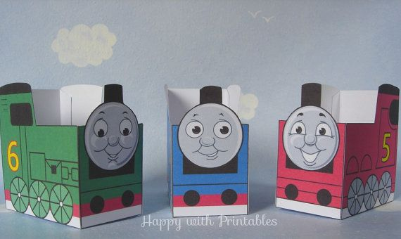 Printable Thomas and friends party favors  - Thomas, James and Percy favor - Thomas the train favor box  -  Thomas favor - Instant Download