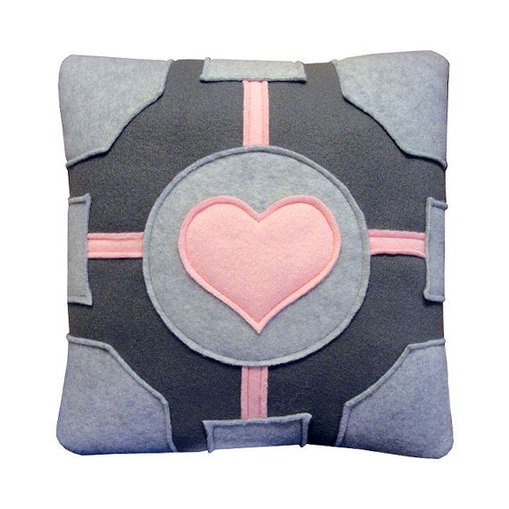 Companion Cube Pillow by Craftsquatch on Etsy