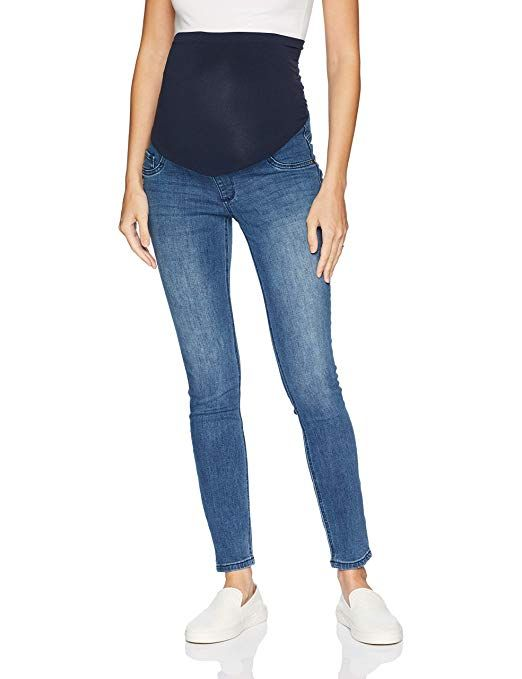 981e9433050d9 Motherhood Maternity Women's Maternity Indigo Blue Super Stretch Secret Fit  Belly Skinny Denim Jean #Jeans