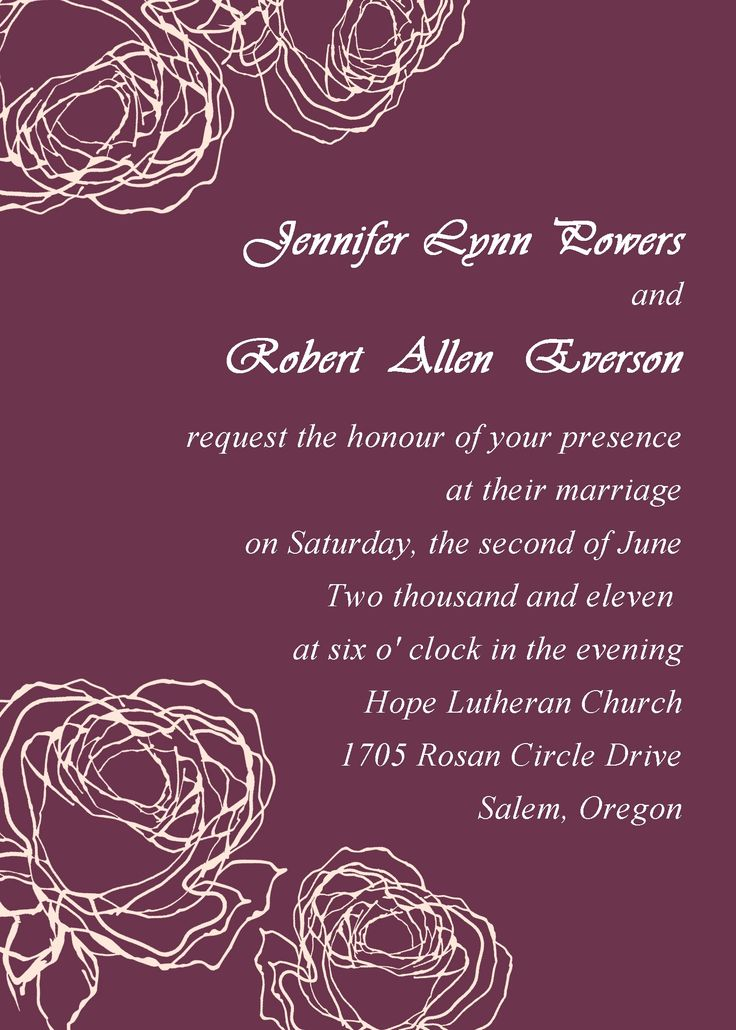 Vintage Plum Rose Elegant Wedding Invitation Cards Online EWI142