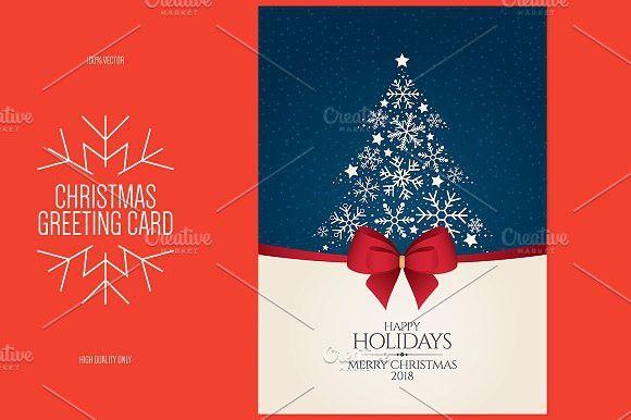 Christmas And New Year Greeting Card Christmas Card Template Photoshop Christmas Card Template New Year Greeting Cards