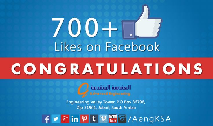 Congrats on having 700+ fans on ‪#‎facebook‬. Thanks for growing us.