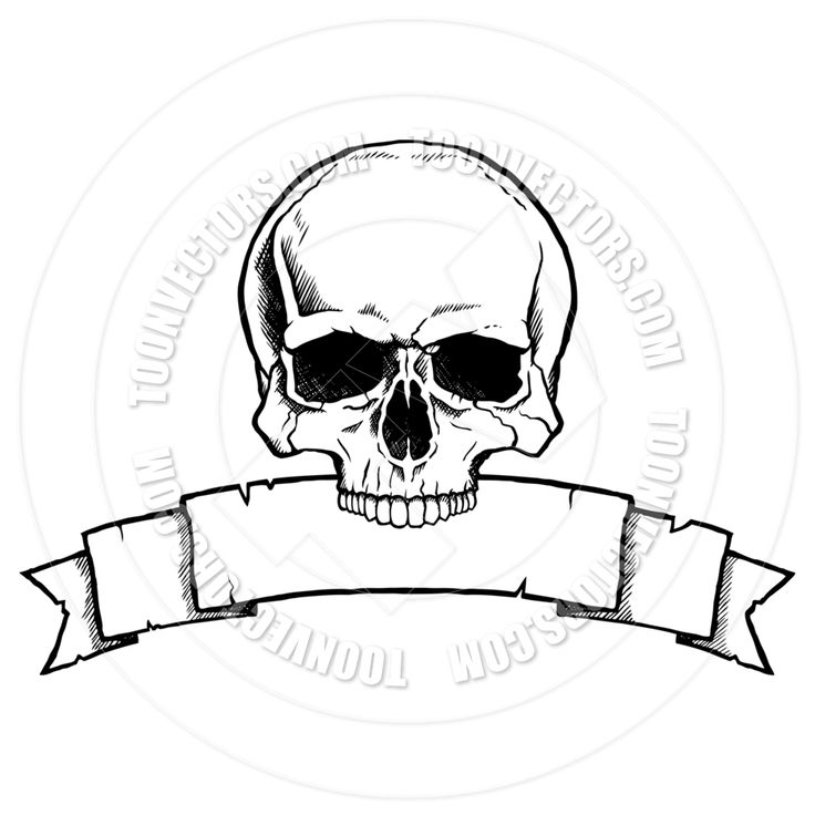 skull drawing art simple line - Google Search