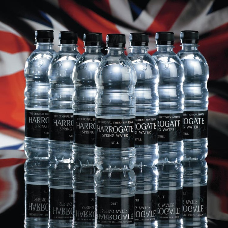 Harrogate Spring Water.  Owned by the Water Brands Group. Pinned November 2012.    http://www.harrogatespringwater.co.uk/    Water Brands also bottles Thirsty Planet water in Harrogate.  Every bottle sold gives a donation to the Pump Aid charity.     http://www.thirsty-planet.com/