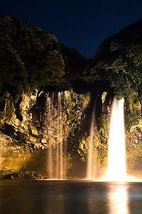 Cheonjiyeon waterfall, Seogwipo, Jeju Island