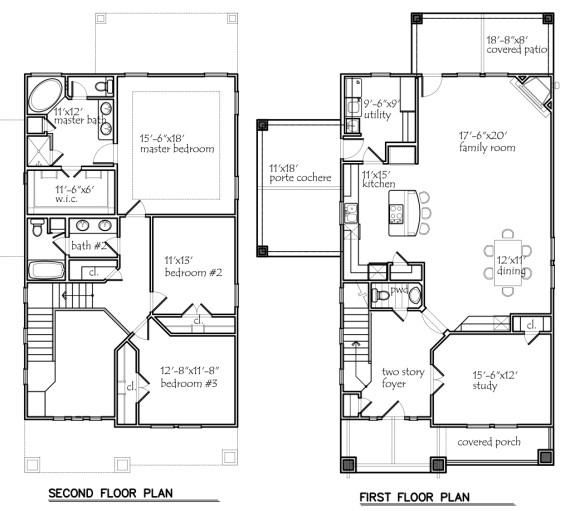 Floor Plans - Texas House Plans