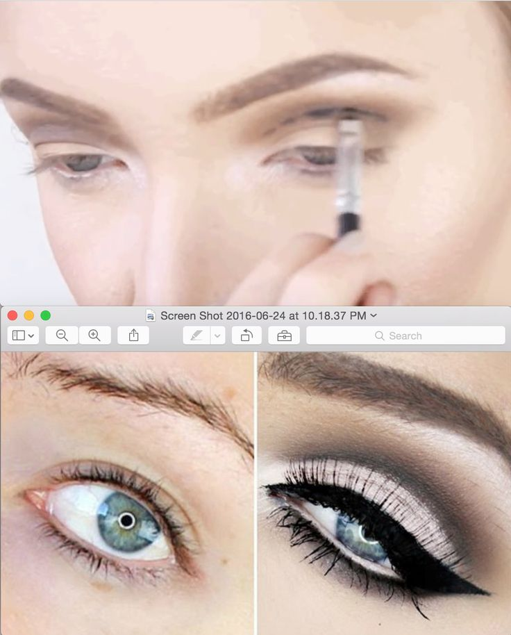 "You can also create a ""cut crease,"" which fakes a higher fold on your eyelid. Basically, ""cutting"" the crease with eyeshadow can transform any hooded lid into this makeup masterpiece."