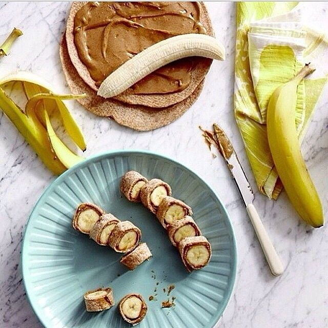 Banana + Peanut Butter Wraps.