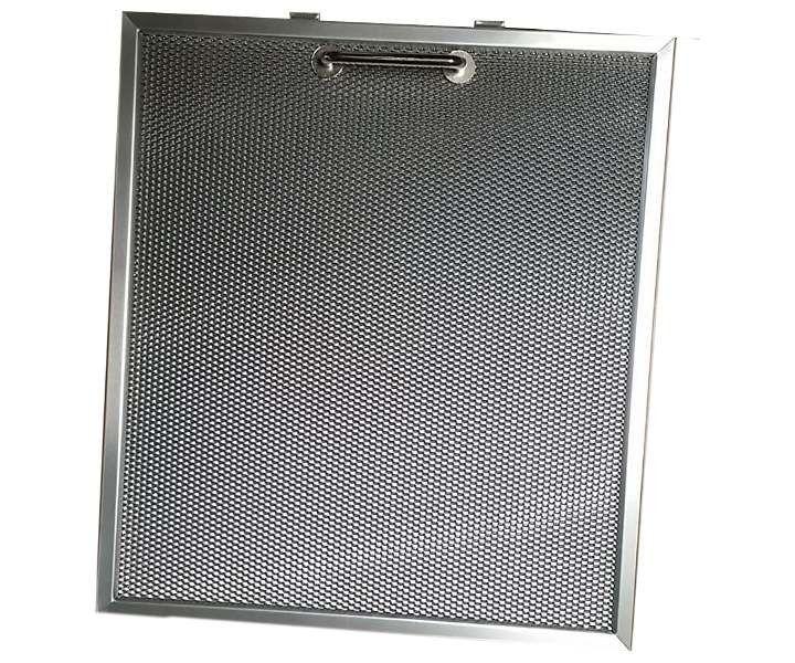 Dunstabzugshauben Metallfilter mit dem Maß 300x275 mm mit Griff. Der Filter paßt unter anderem in die Geräte der Firmen PAUEN + Kruse KE40 und V-Zu...