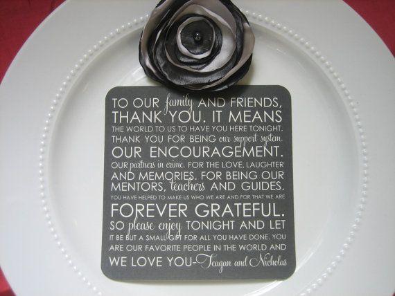 Wedding Reception Thank You Card by ThatPrettyInvitation on Etsy, $15.00