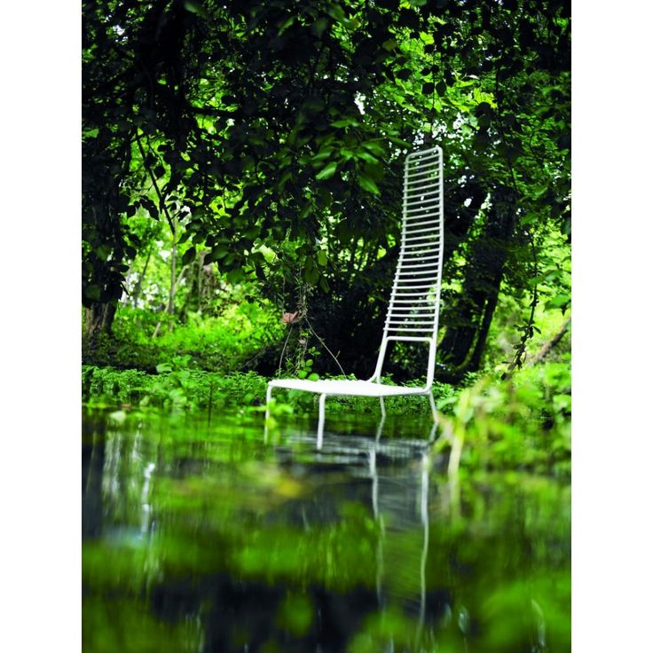 Painted pre-galvanized metal for outdoor use #chair #design
