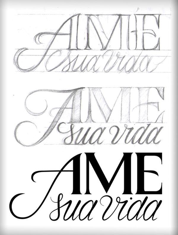 """Ame sua Vida logo. """"Love your life"""" by Caetano Calomino, via Behance"""