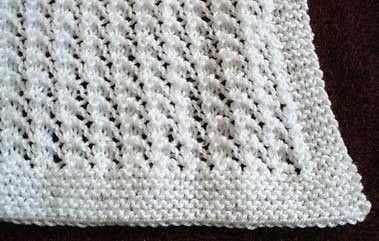 Knit Baby Blanket....this is my favorite easy pattern.  Made one for SJ.