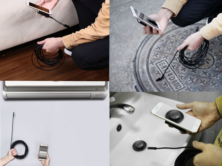 1200P 8LED IP68 WiFi Endoscope Borescope Inspection Camera Rigid Cable for Android IOS 2/3.5/5/7/10M