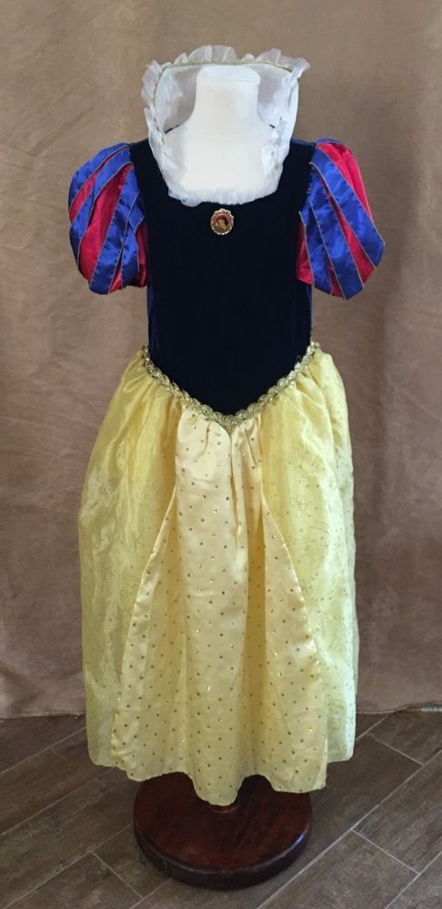 L Snow White Deluxe Princess dress Disney Store costume Girls large 10 / 12 #Disney #Dress