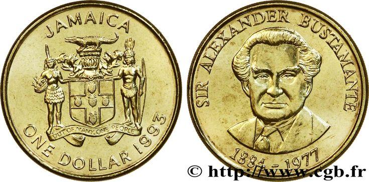 Sir Alexander Bustamante | GIAMAICA 1 Dollar armes / Sir Alexander Bustamante, héros national ...