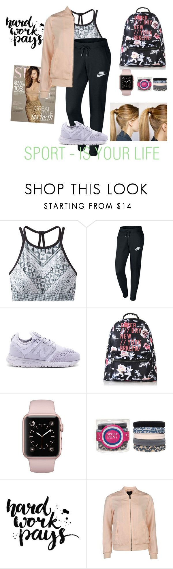 """""""Sport Set"""" by alinamurs ❤ liked on Polyvore featuring prAna, NIKE, New Balance, Superdry, L. Erickson and Kerr®"""
