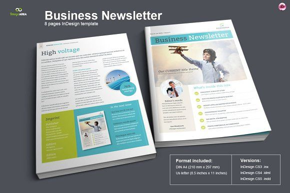 Business Newsletter by Imagearea on @creativemarket