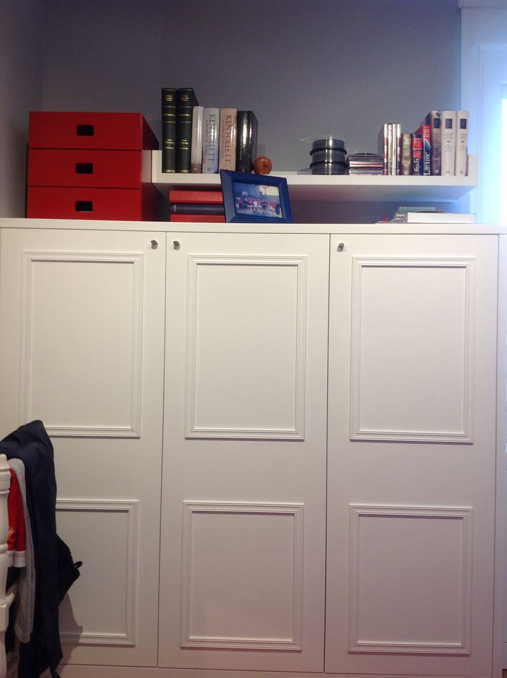 Detalle del armario empotrado de frente...