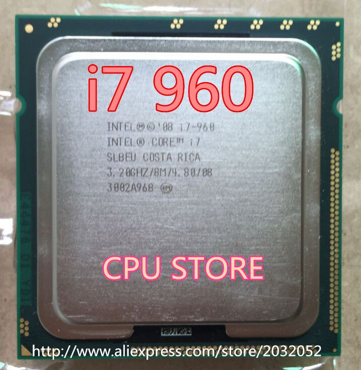 Original Intel Core I7 960 Processor 3.2GHz Quad Core LGA 1366 130W 8M Cache Desktop