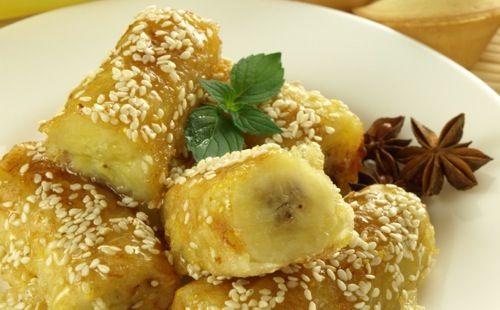 Bananes flambées au sésame - WeCook