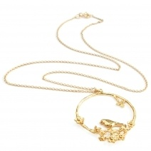 Flowery Bird Loop Necklace -  lovely Alex Monroe
