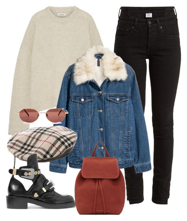 """Untitled #4014"" by camilae97 ❤ liked on Polyvore featuring Vetements, Totême, Burberry, Balenciaga and Mansur Gavriel"