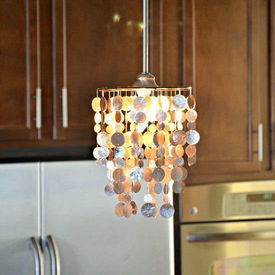 DIY Capiz Pendant Tutorial. Convert A Capiz Table Lamp