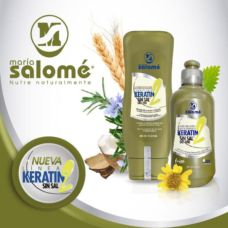 Disfruta de un cabello saludable y lleno de vida con  el nuevo Acondicionador Keratin2 y la nueva Crema para Peinar Keratin2. Gracias a sus extractos naturales reparan, nutren, acondicionan e hidratan tu cabello de la raíz a la punta. ¿Qué esperas para probar la nueva Línea Keratin2?