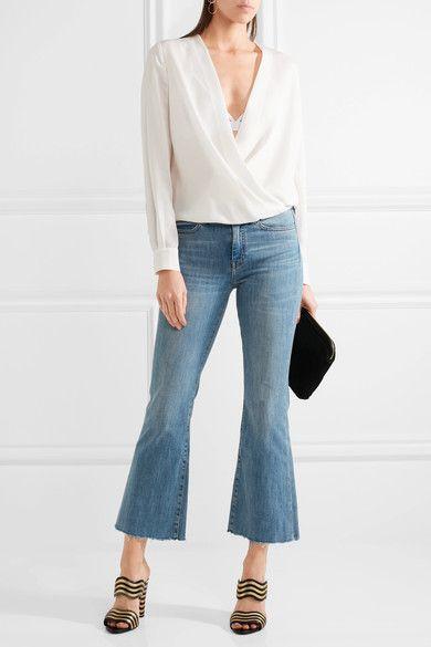 Diane von Furstenberg | Marci wrap-effect silk-crepe blouse | NET-A-PORTER.COM