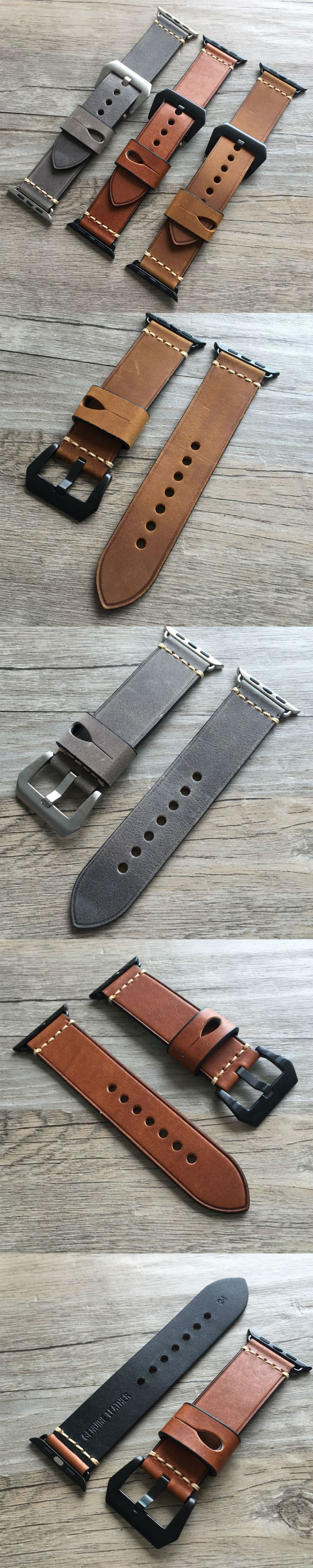 LEATHER APPLE WATCH STRAP - COOLEST WATCH STRAPS