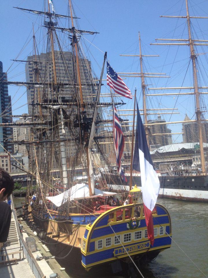 L'hermione Lafayette ship in NYC