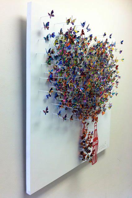 Sculptor David Kracov, butterflies