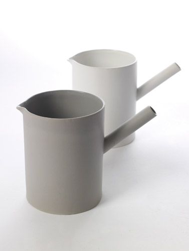 cylinder carafes out of stoneware in grey & white | tableware . Geschirr . vaisselle | Design: Catherine Lovatt for Serax