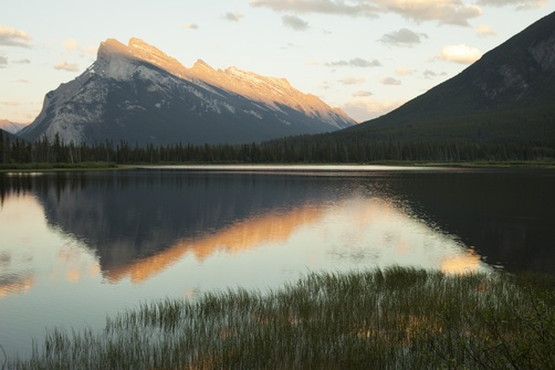 Mount Rundle in the Canadian Rockies.