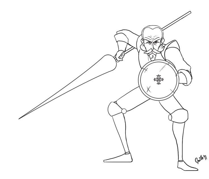 Dibujos para colorear de Don Quijote para niños | DoN QuiJoTe dE ...