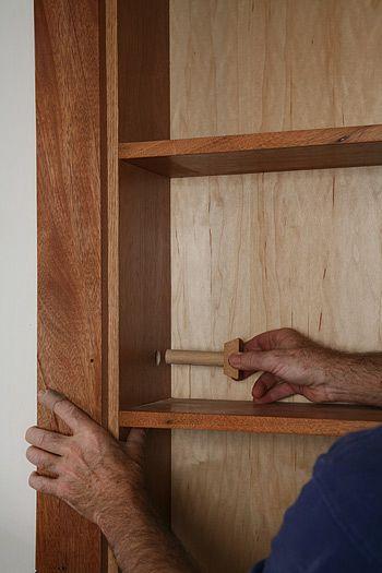 gary katz online shows you how to make a hidden door. Black Bedroom Furniture Sets. Home Design Ideas