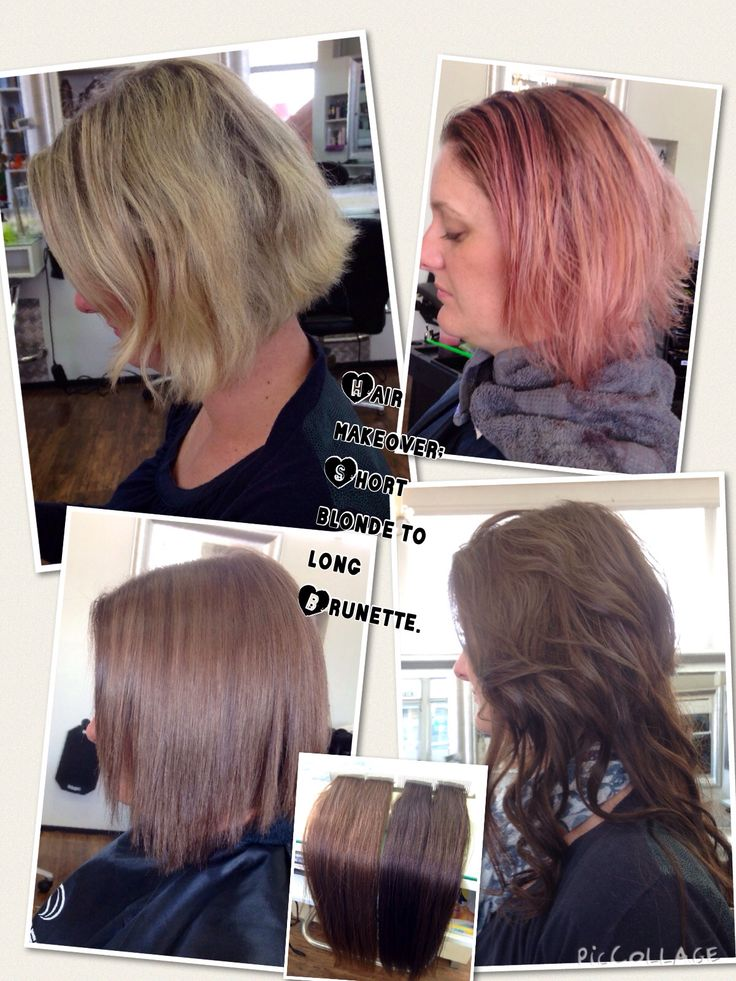 Before and After Colour correction for Hair Extension work