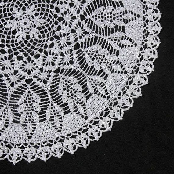 White round crochet doily by NatureAnesthesia on Etsy