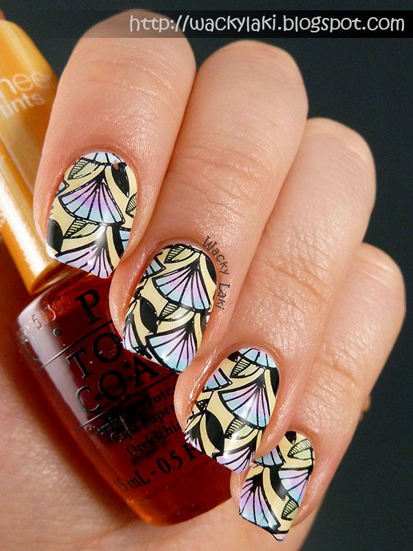 Wacky Laki: OPI Sheers and Stamping with Messy Mansion...