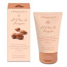 Crema detergente da Massaggio per il Viso - All'Olio di Argan - L'Erbolario