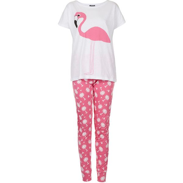 TOPSHOP Flamingo Tee and Legging PJs ($52) ❤ liked on Polyvore