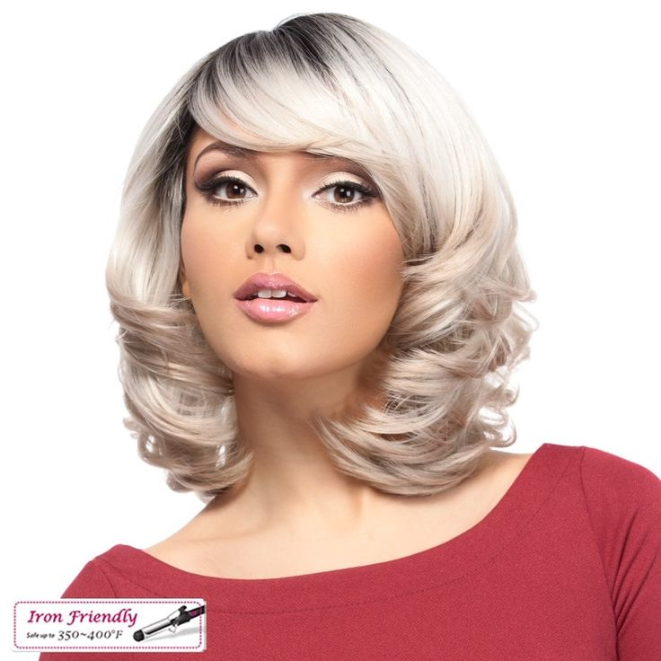 Premium quality synthetic wig Fullcap wig Its a Wig! Curling iron friendly 350~400°F Style color shown: TT510